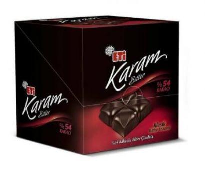 Eti Karam %54 Bitter Tablet Çikolata 70 Gr x 6 Adet