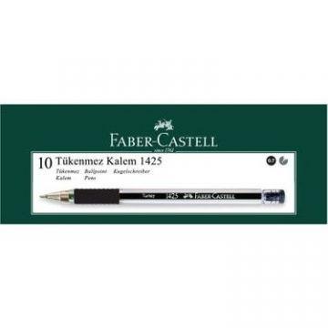 Faber-Castell 1425 İğne Uç Tükenmez Kalem Siyah 10 Adet
