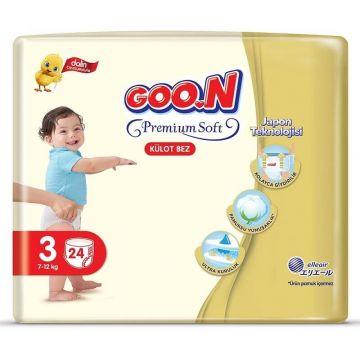 Goon Premium Külot Bebek Bezi 3 Beden 24 Adet