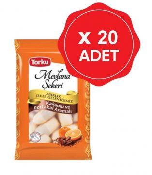 Torku Mevlana Şekeri Kakao Portakallı 450 Gr x 20 Adet