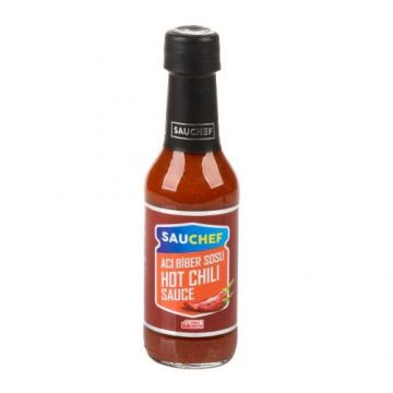 Sauchef Hot Chili Sos 230 Gr Cam Şişe