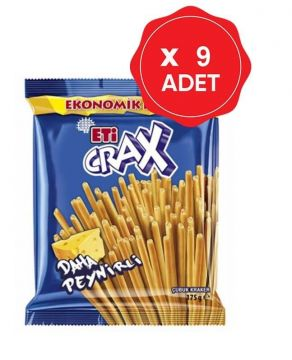 Eti Crax Peynirli Çubuk Kraker 175 Gr x 9 Adet
