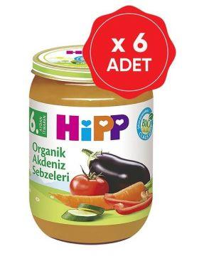 Hipp Organik Akdeniz Sebzeleri 190 Gr x 6 Adet