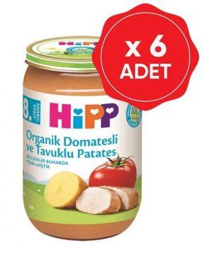 Hipp Organik Domatesli ve Tavuklu Patates 220 Gr x 6 Adet