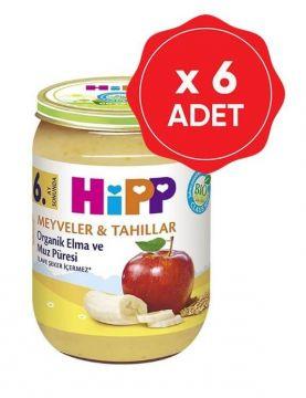 Hipp Organik Elma ve Muz Püresi 190 Gr x 6 Adet