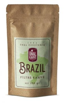 Ünal Taze Öğütülmüş Brazil Filtre Kahve 250 Gr