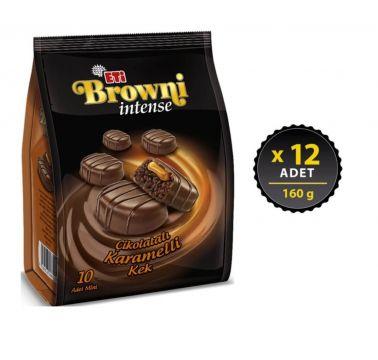 Eti Browni İntense Karamelli Kek 160 gr x 12 Adet