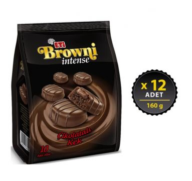 Eti Browni intense Çikolatalı Kek 160 gr x 12 Adet