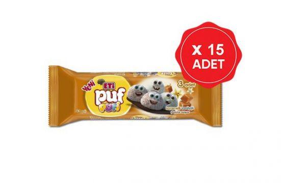 Eti Puf Pufi Karamelli Vanilyalı 42 Gr x 15 Adet