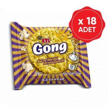 Eti Gong Ballı ve Hardallı 34 Gr x 18 Adet