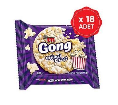 Eti Gong Mısır ve Pirinç Patlağı 40 Gr x 18 Adet