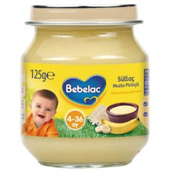 Bebelac Kavanoz Maması Sütlaç Muzlu Pirinçli 125 gr