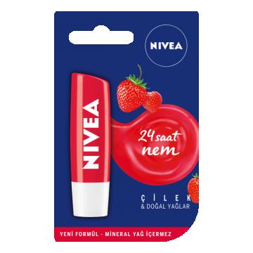 Nivea Lip Care Fruity Shine Çilek Dudak Bakım Kremi 5.5 ml