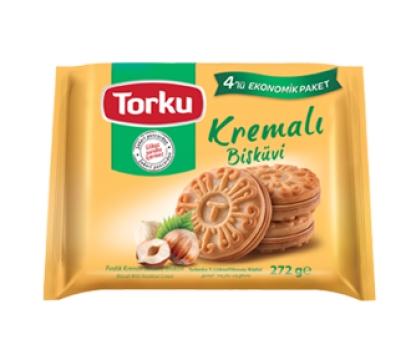 Torku Kremalı Sandviç Bisküvi Fındıklı 272 gr