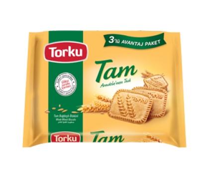 Torku Tam Buğdaylı Bisküvi 131 gr x 3 Adet