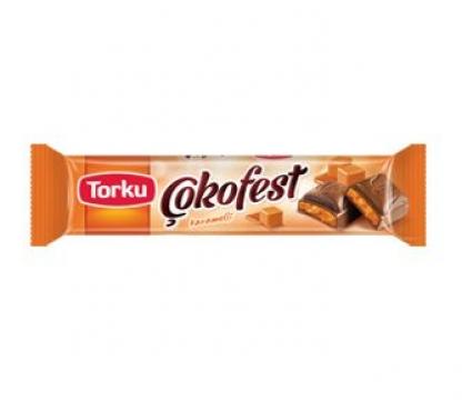 Torku Çokofest Karamel Dolgulu Sütlü Çikolata 34 Gr