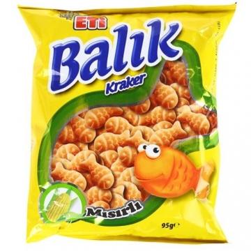 Eti Balık Kraker Mısırlı 70 gr